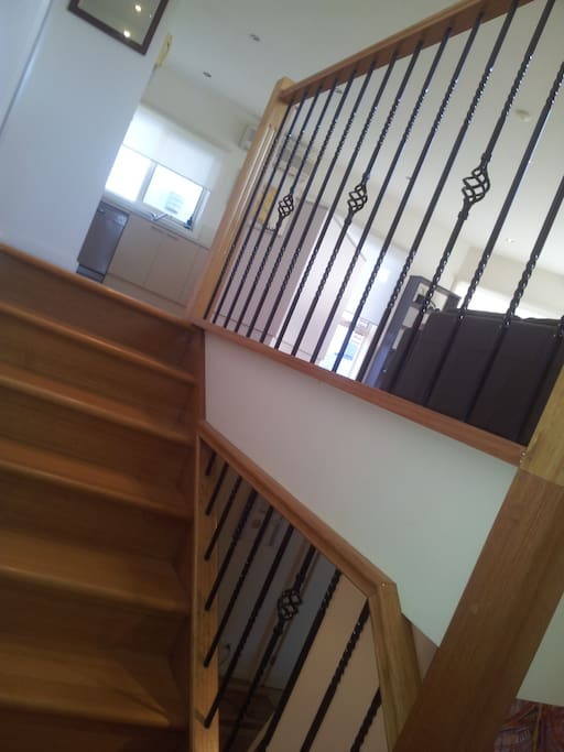 Stairwell takes you up to the breathtaking open design living space