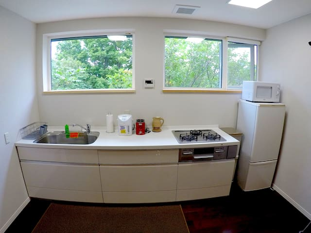 Fully equipped kitchen facilities.