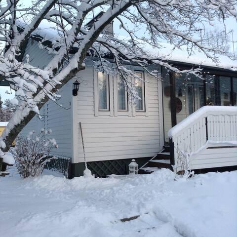 Romantic wooden house near Helsinki