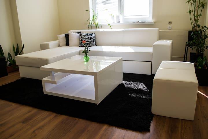 Ebony and Ivory apartment