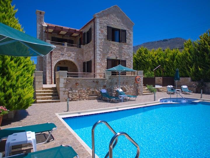 Villa Afrati, Sea Views, Pool, A/C