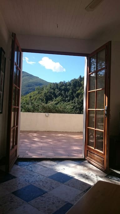 View through French doors to private terrace and amazing views of area