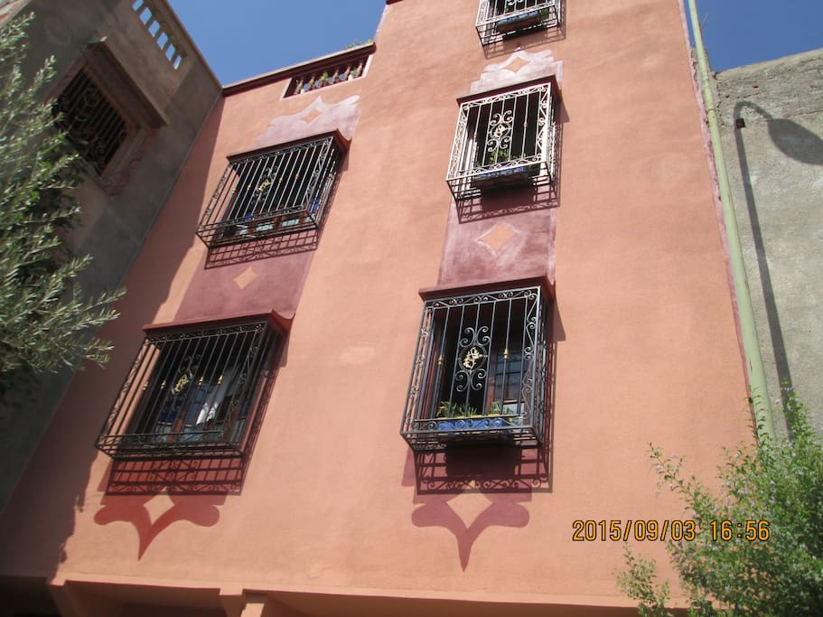 la maison !!!! couleur de Marrakech