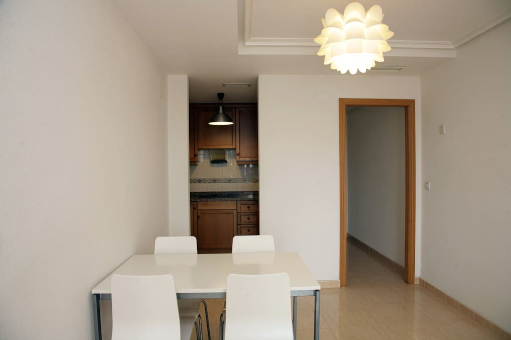 Dinning table and kitchen