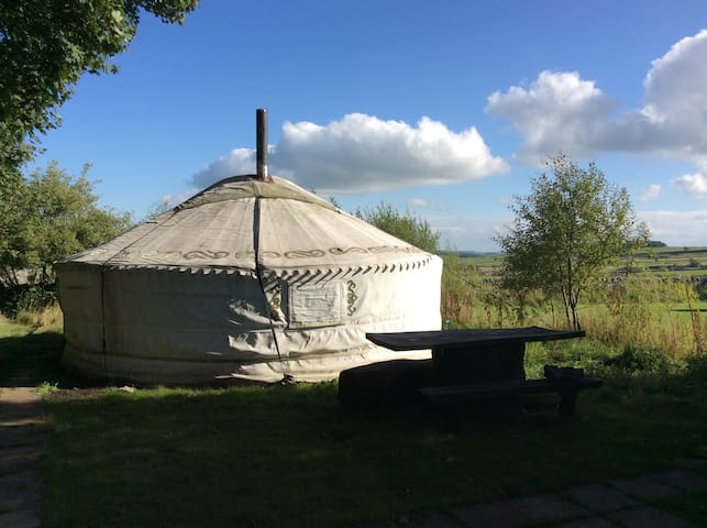 Large yurt with heated bathroom - Buxton - Yurt