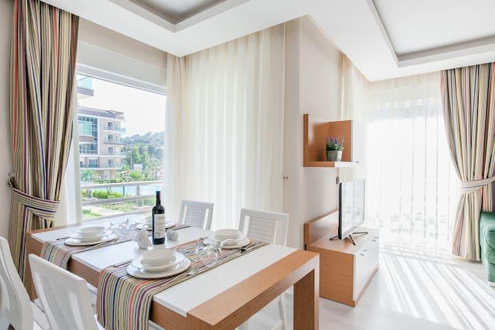 Luxury 2B apartment excelent for the familiesML2/4 - Konyaaltı - Huoneisto