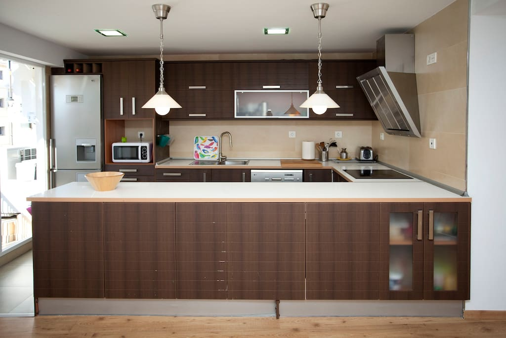 fully fitted kitchen,electric hob ,fridge and dish washer