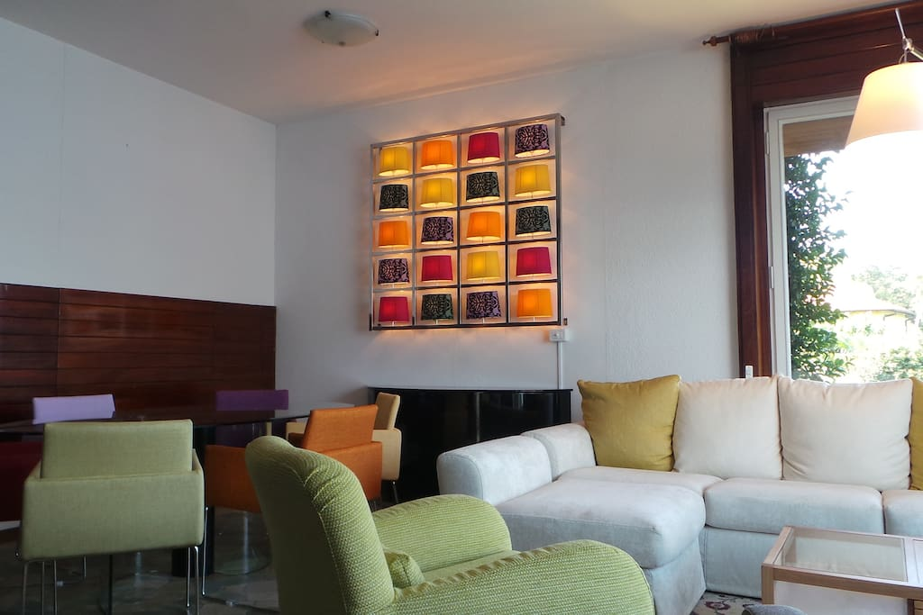 The inside living area has been renovated and decorated in a modern style