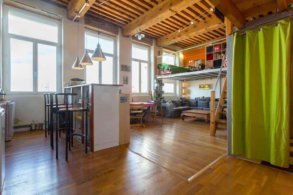 Loft dans un canut denviron 60m2. - Lofts for Rent in ...