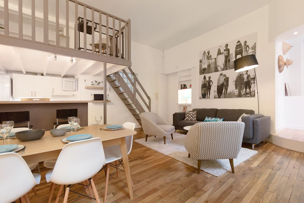Marais loft 4 bedrooms appartements louer paris le de france france - Achat loft ile de france ...