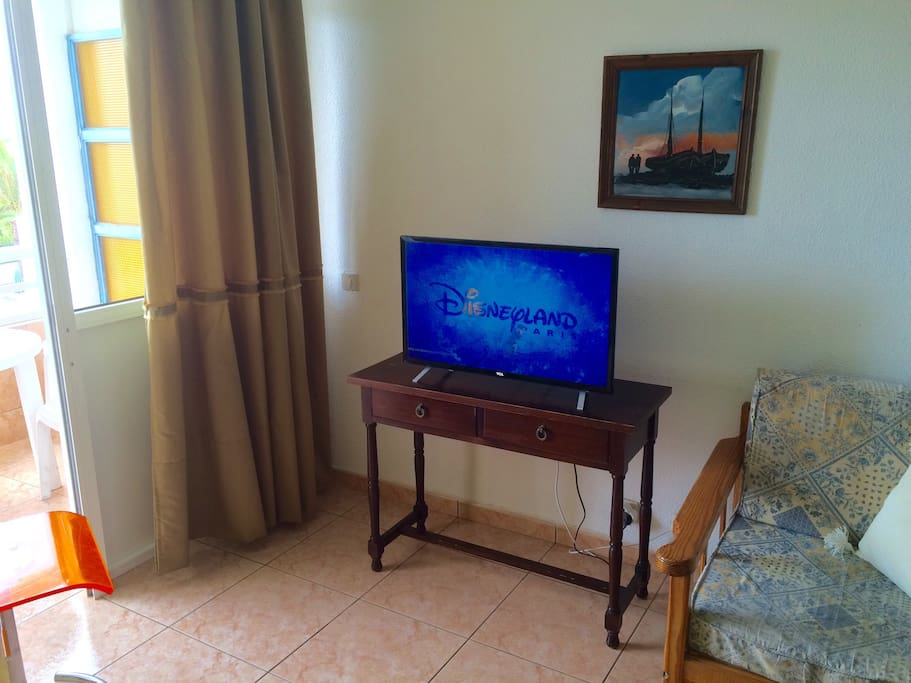 The apartment has been upgraded in 2015 to make your stay more comfortable! A new flat screen TV with over 50 international channels has been installed, showing HD format programs and movies in English, Spanish and German.