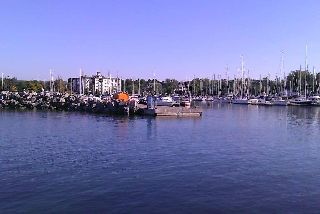 Thornbury Harbor Marina.