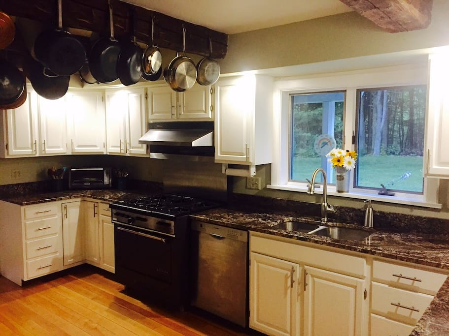 Newly renovated gourmet kitchen.