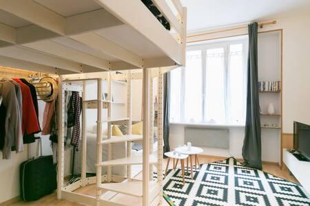 Appartement cozy en pleins Paris