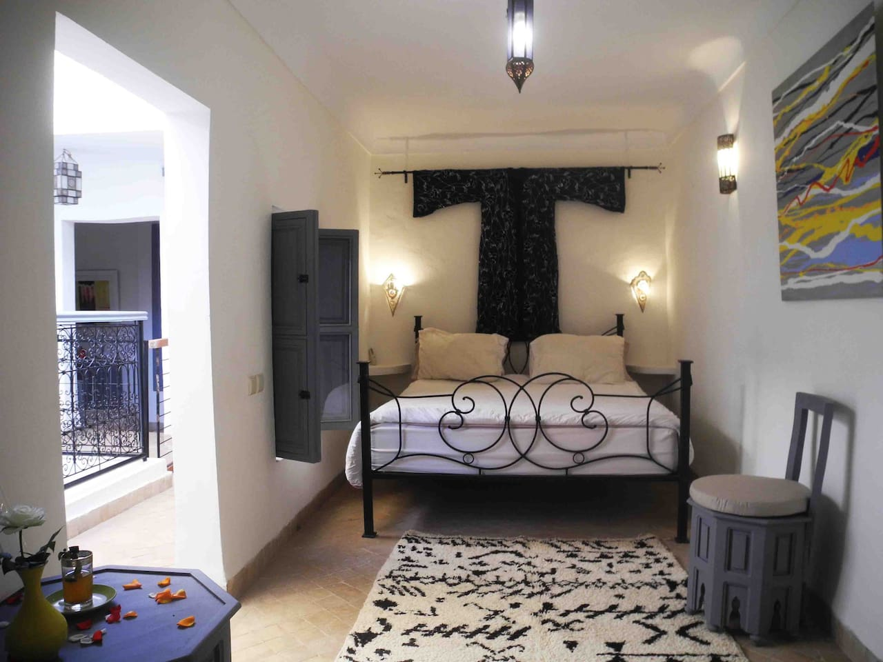 Our first floor Berber double /twin room with space for an extra bed.