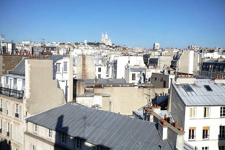View on Montmartre from the living room.