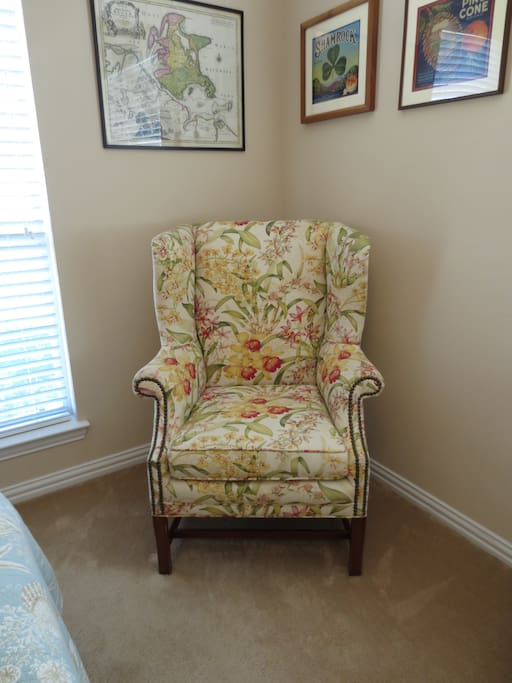 Every bedroom needs a comfortable chair to sit in.