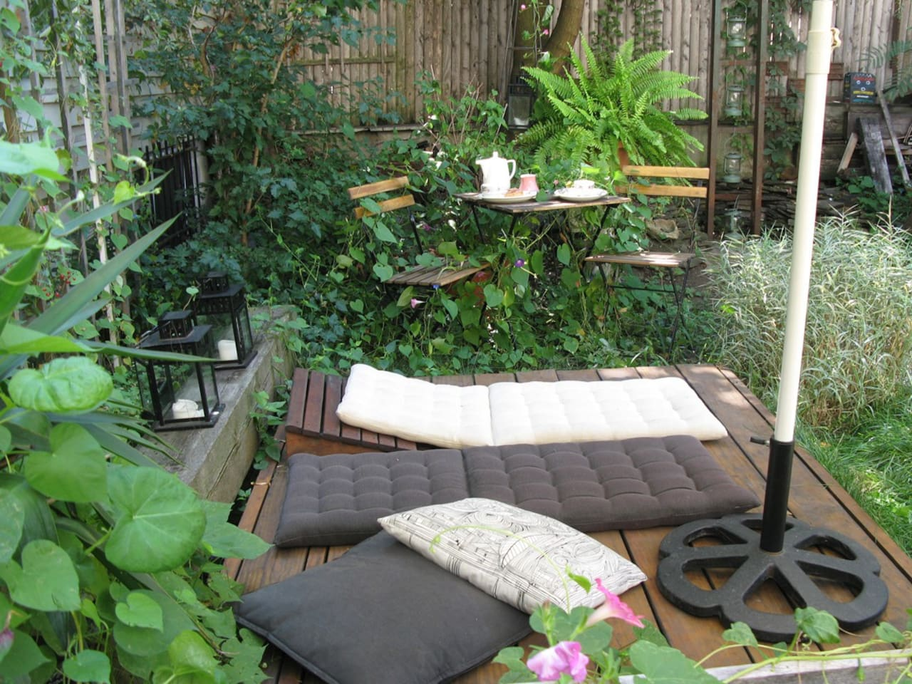 """Zen"" outdoor area..."