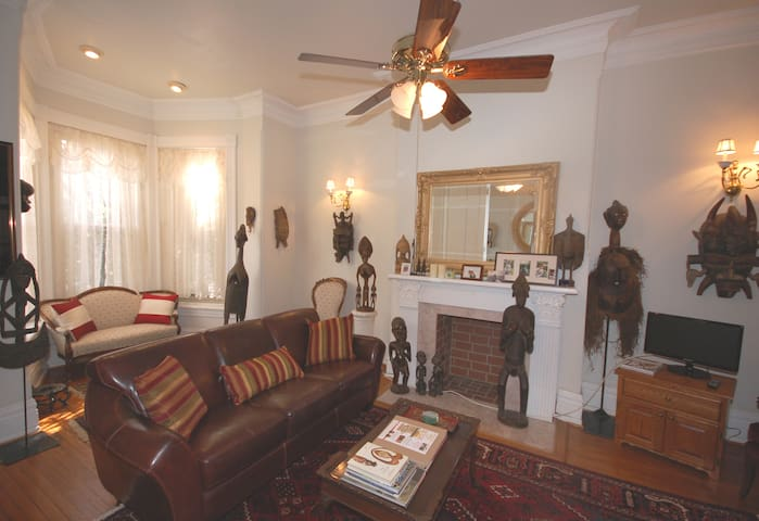 Guests are invited to use the first floor living room