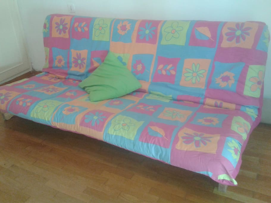 sofa becoming one double bed