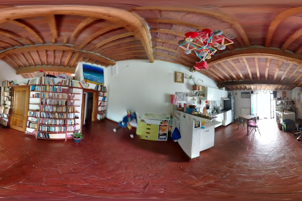 spherical panoramic photo of the living room