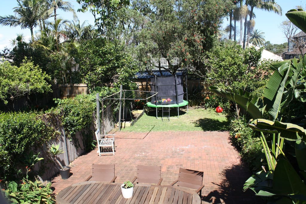 Large back garden perfect for play and entertaining