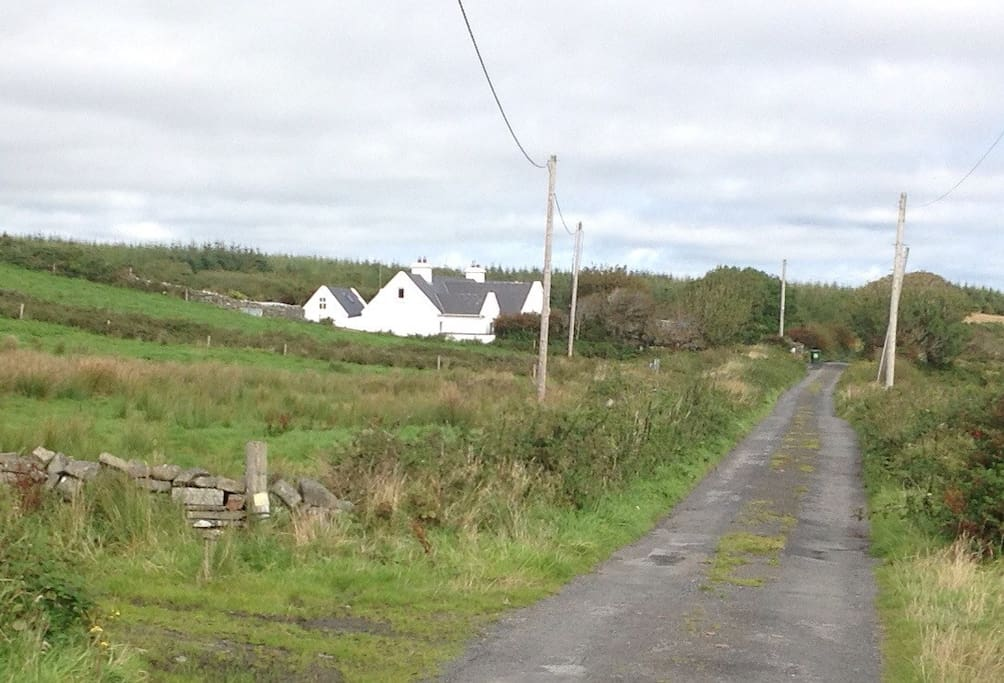 The approach to the house from LAHINCH