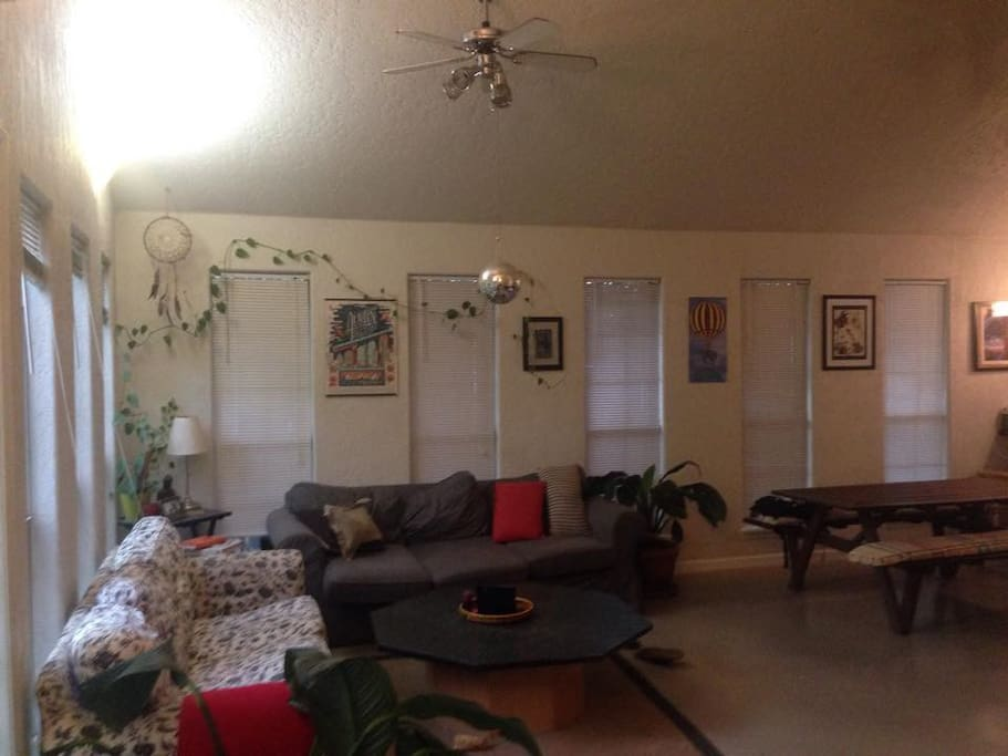 living room and two couches