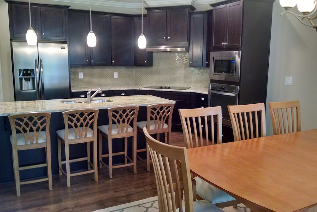 Functional and spacious Kitchen/Dining areas