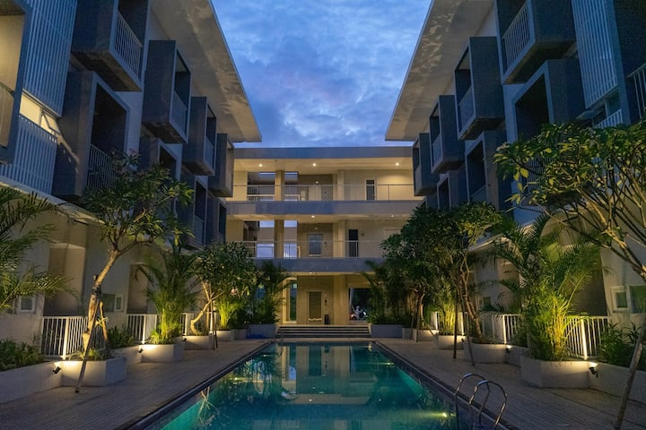 Bali Lovely Studio Apartment With Balcony @Kuta 3