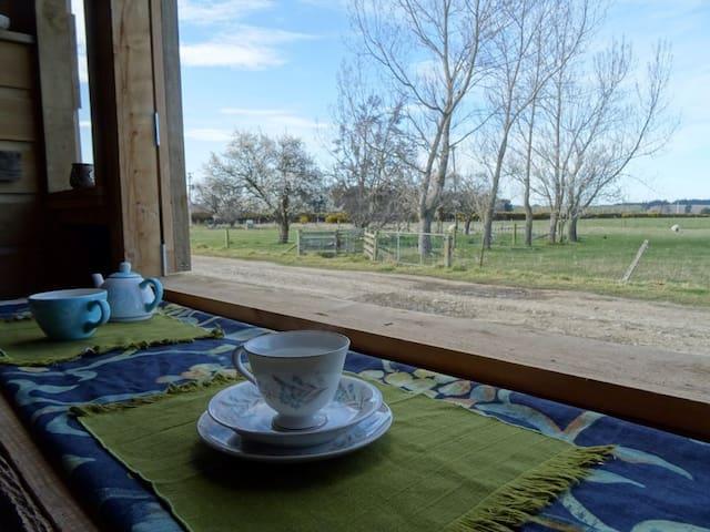 Breakfast Bar with open windows