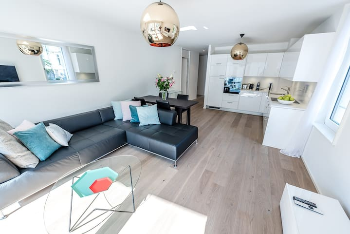 Modern Montreux 2 Bedroom Lake Geneva Apartment