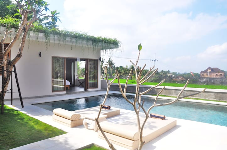 Private 1 BR & Pool w/kitchen , Rice Field Healing