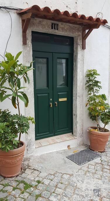 The door entrance
