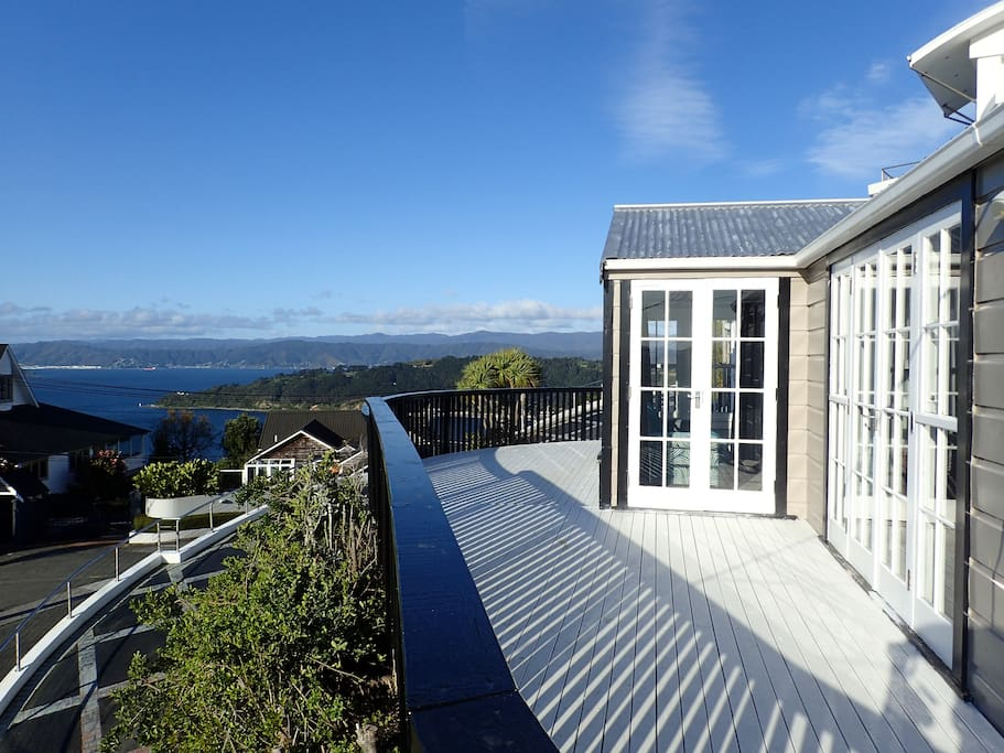 Deck with view towards Hutt Valley/Eastbourne