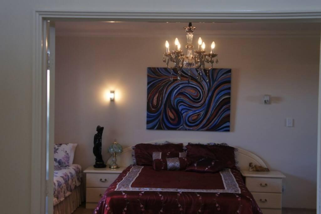Pradip's artwork in the house