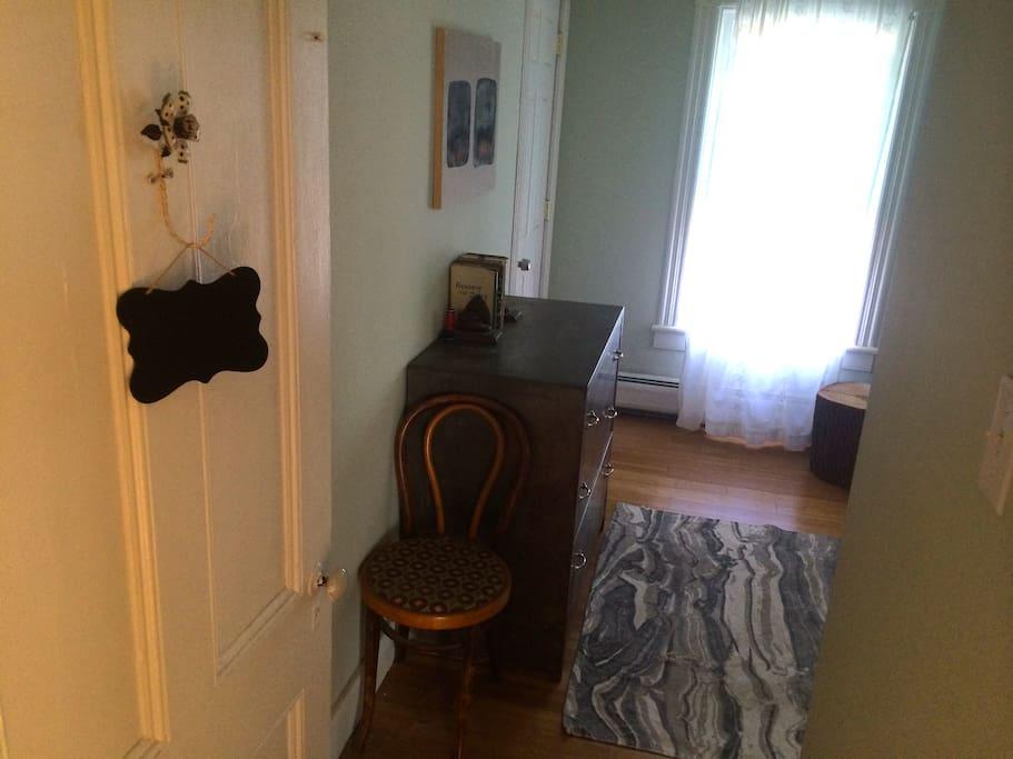 Entrance to Master Bedroom. Three sunny windows.