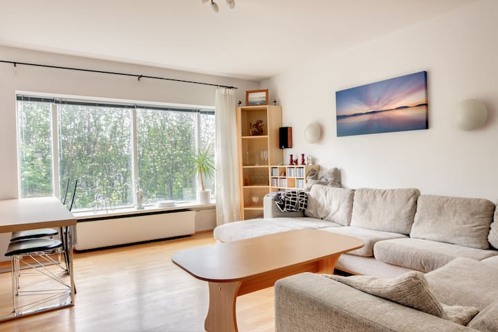 Bedroom with a double bed. - Reykjavik - Appartement
