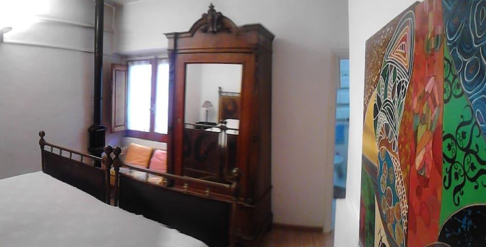 camera doppia con bagno privato - Vicalvi - Appartement