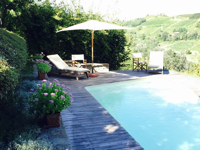 Lovely villa,vineyard,pool&terrace - Calosso - 別荘