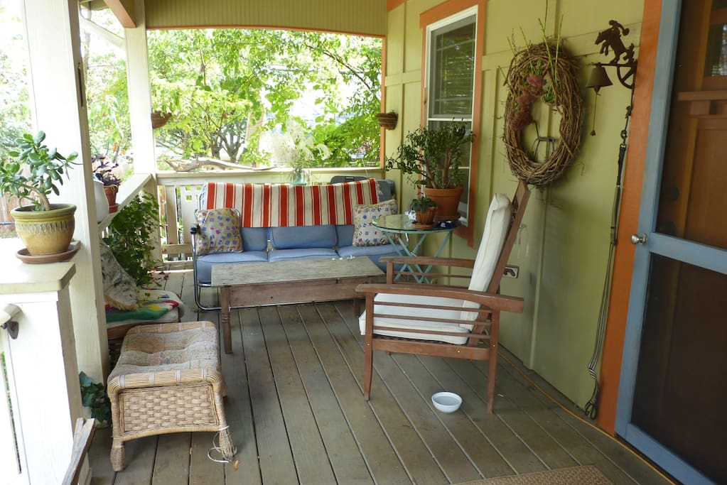Front porch is here for you to enjoy.