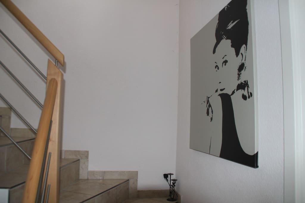 Das Treppenhaus zur Wohnung