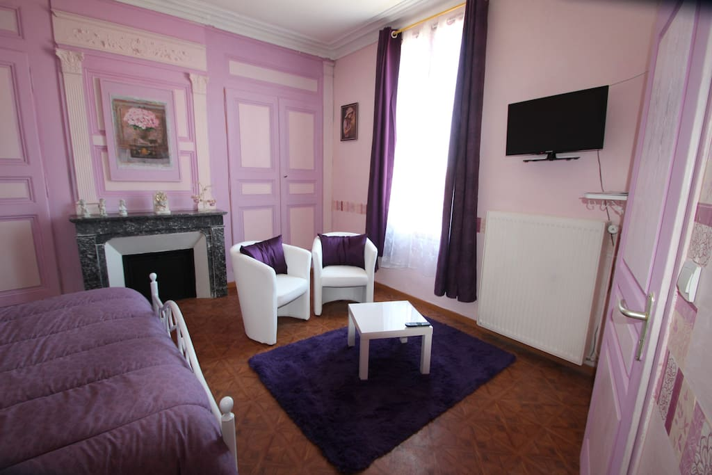 Domaine des roses chambre violet chambres d 39 h tes for Chambre hote 93