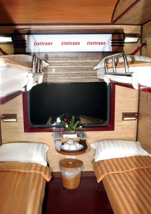 Soft berth train cabin