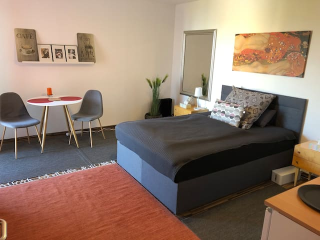 Renoviertes Apartment m.Aussicht & Privatparkplatz