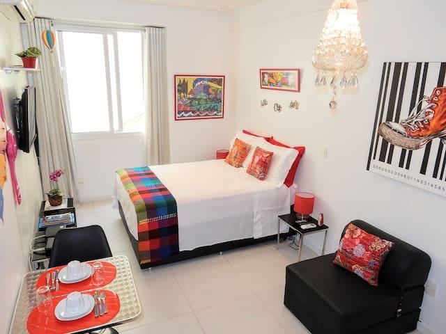Comfortable studio in Ipanema for 2 with wi-fi