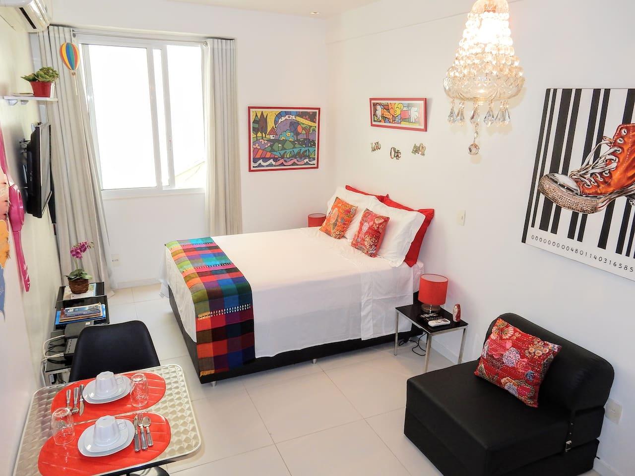 Cama confortável // Comfortable bed