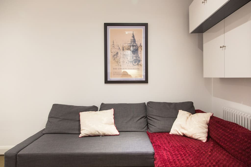 AirBnB photo - living room/kitchen