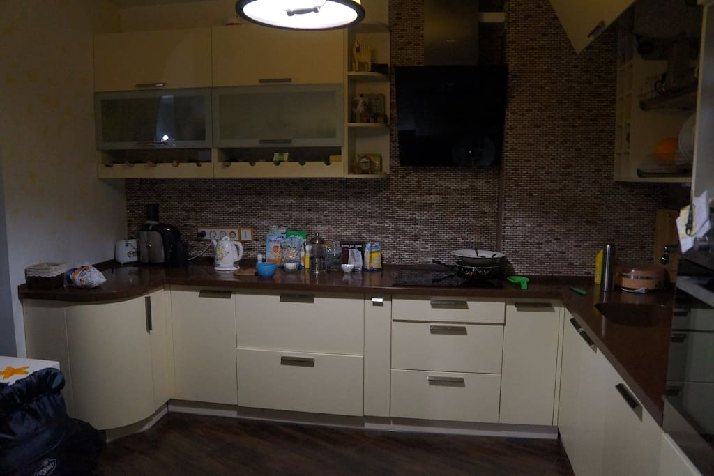 fully equipped kitchen (shared with us. We are young couple with a baby boy)