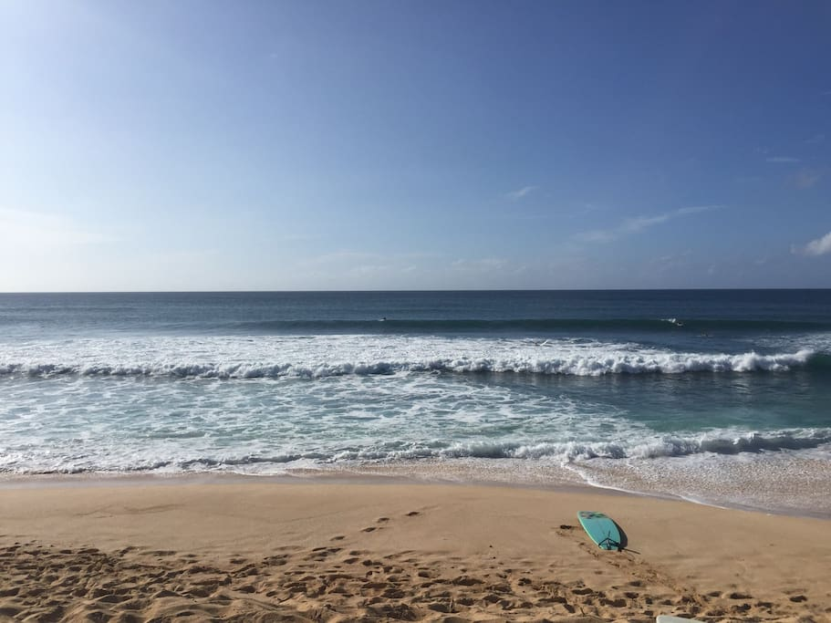 Steps away from a few different surf spots nearby or just sit, relax and reflect